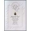 Memorial Tear Pewter Lapel Pin with Sympathy Card
