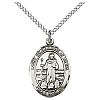 St Bernadine Medal - Sterling Silver - Medium