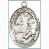 St Catherine of Bologna Medal - Sterling Silver - Medium