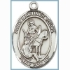 St Martin of Tours Medal - Sterling Silver - Medium