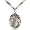 St Jacob of Nisbis Medal - Sterling Silver - Medium