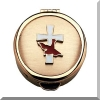 Gold Communion Pyx with Cross and Holy Spirit Dove