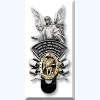Angel Visor Clip with St Michael Medal