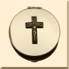 Pyx - Communion Pyx with Crucifix Design