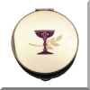 Pyx - Communion Pyx with Chalice & Wheat Design