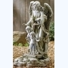 Guardian Angel with Children Statue - Solar Outdoor