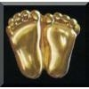 Precious Feet Pin - Gold Finish