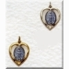 Miraculous Medal - Blue Heart - Gold or Sterling 5/8 inch