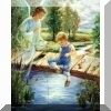 Guardian Angel with Boy Poster Print
