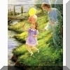Guardian Angel with Girl Poster Print